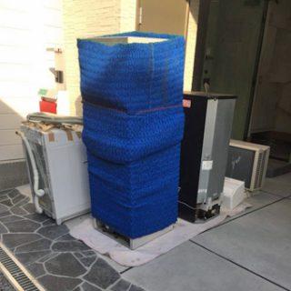 蛇腹養生20枚、養生毛布30枚は常時トラックに!